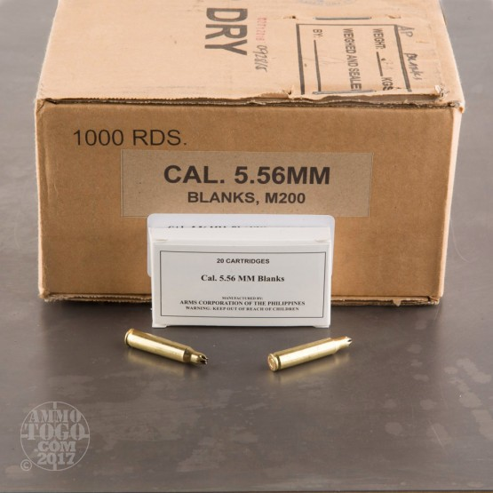 1000rds - 5.56x45mm Armscor Blanks Ammo