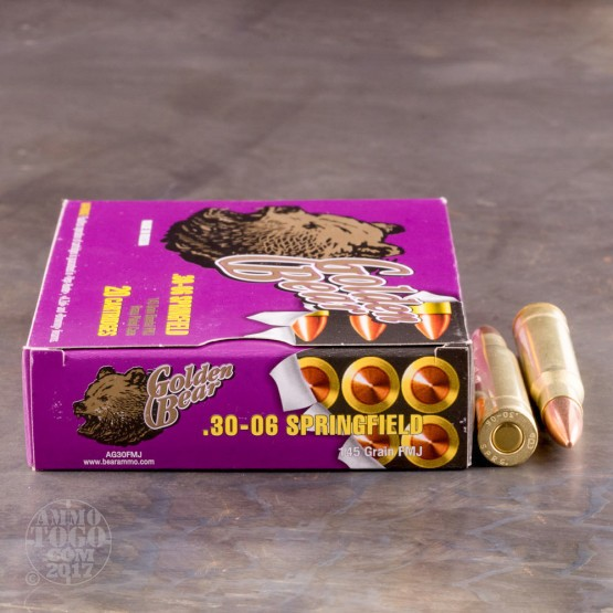 20rds - 30-06 Golden Bear 145gr. FMJ Ammo