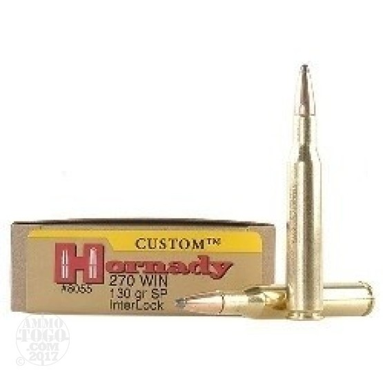 20rds - 270 Win. Hornady 130gr. Spire Point Ammo