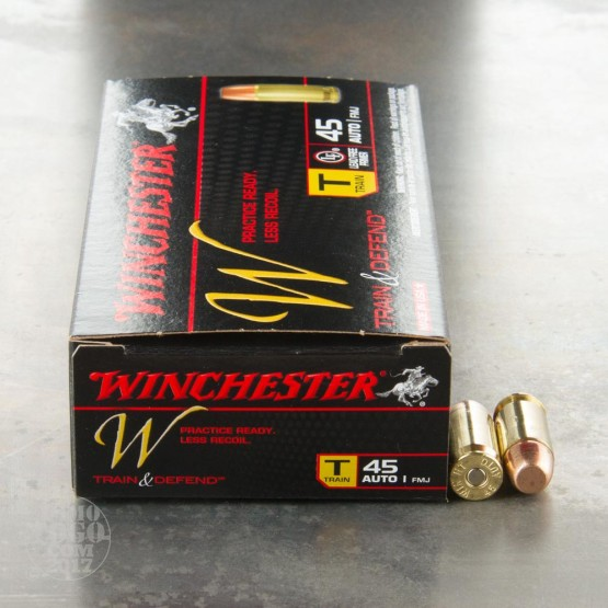 500rds – 45 ACP Winchester Train & Defend Reduced Recoil 230gr. FMJ Ammo