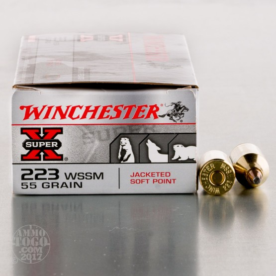 20rds - 223 Winchester WSSM 55gr. Super-X Power Point Ammo