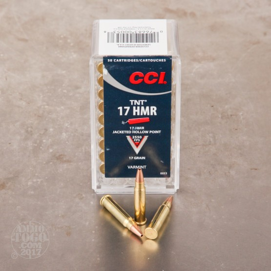 50rds - 17 HMR CCI 17gr. TNT Hollow Point Ammo