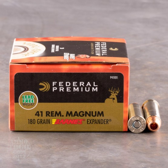 20rds - 41 Mag Federal Barnes Expander 180gr. HP Ammo