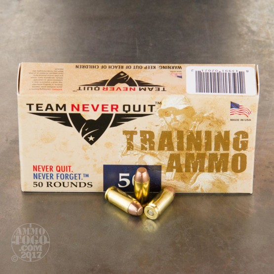 50rds – 40 S&W Team Never Quit Fraingible 125gr. FR Ammo