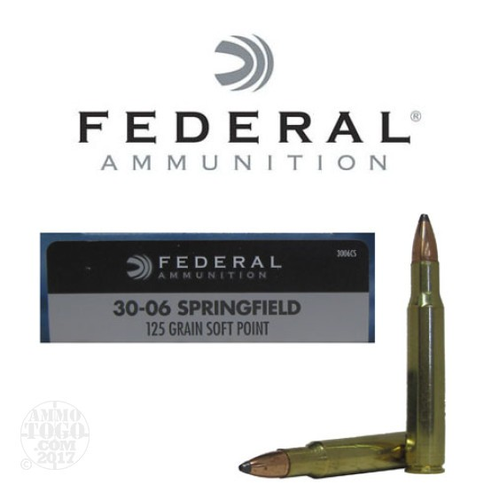 20rds - 30-06 Federal Power-Shok 125gr. Soft Point Ammo