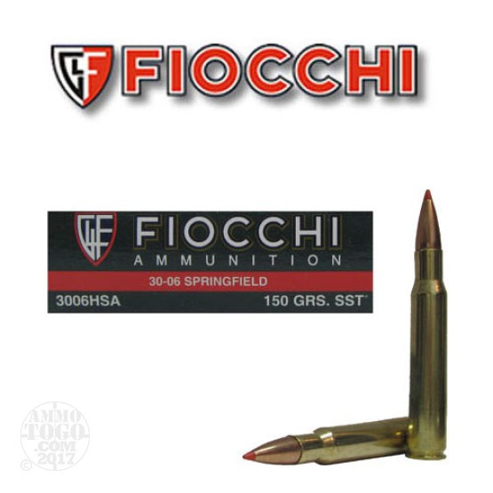 20rds - 30-06 Fiocchi 150gr. SST Polymer Tip Ammo
