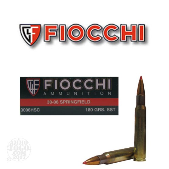 20rds - 30-06 Fiocchi 180gr SST Polymer Tip Ammo