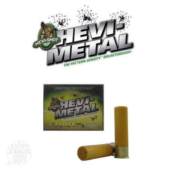 "25rds - 20 Gauge Hevi-Shot Hevi-Metal 3"" 1oz. #2 Shot Ammo"