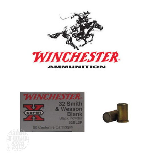 50rds - 32 S&W Winchester Super-X Black Powder Blanks