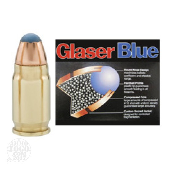 6rds - 32 North American Arms 55gr. Glaser Blue Safety Slug