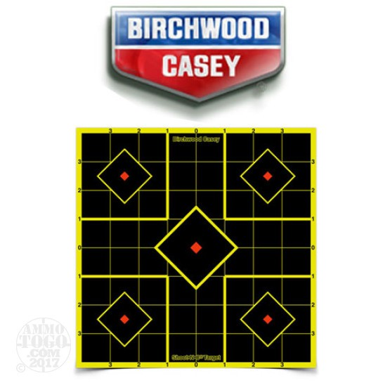 "1 - Birchwood Casey Shoot N C Target 8"" Sight-In Target 6 Pack"