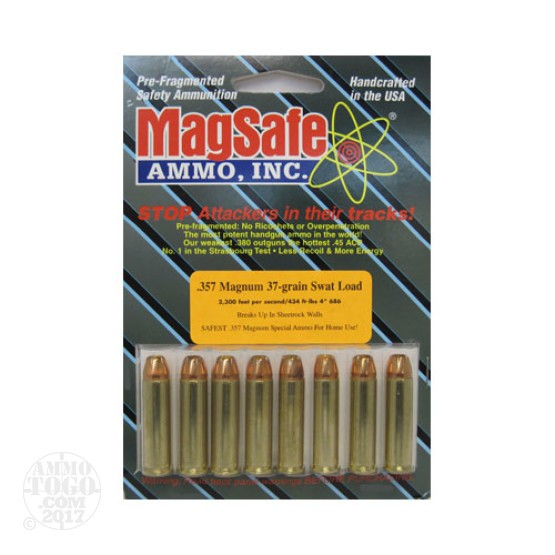 8rds - 357 Mag. Magsafe 37gr SWAT Ammo