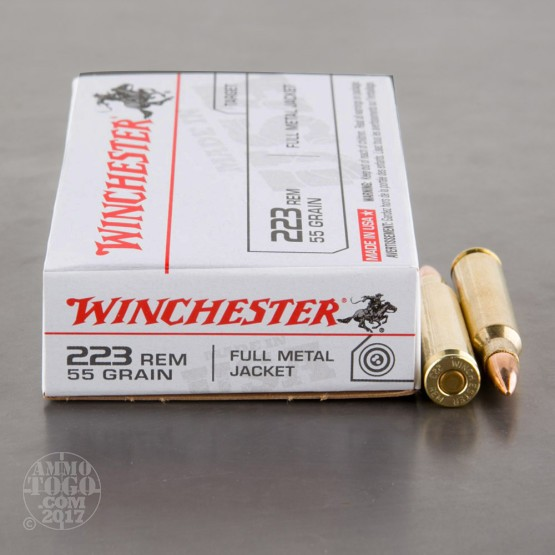 20rds - .223 Winchester USA 55gr. FMJ Ammo