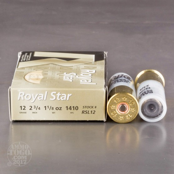 "5rds - 12 Gauge Rio Royal Star 2 3/4"" 1 1/8oz. Rifled Slug Ammo"