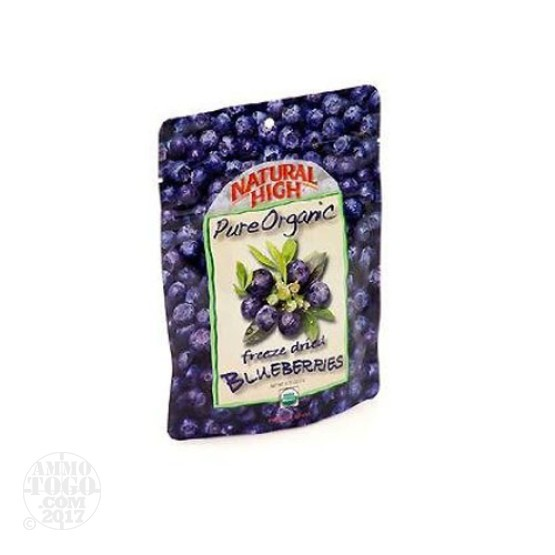 1 - Natural High Organic Blueberries Dried Fruit Snack