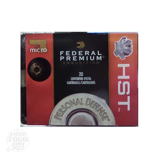 20 Rounds – 380 Auto Federal Personal Defense 99 Grain HST JHP Ammo