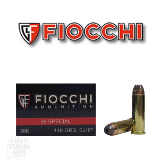 1000rds - 38 Special Fiocchi 148gr Semi-Jacketed Hollow Point