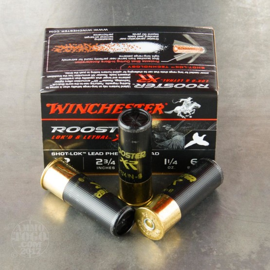 "15rds – 12 Gauge Winchester Rooster XR 2-3/4"" 1-1/4 oz. #6 Shot Ammo"
