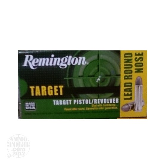 50rds - 38 Special Remington Target 158gr. LRN Ammo