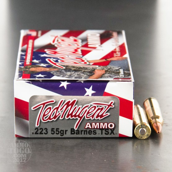 20rds - 223 Ted Nugent 55gr. Barnes TSX HP Ammo