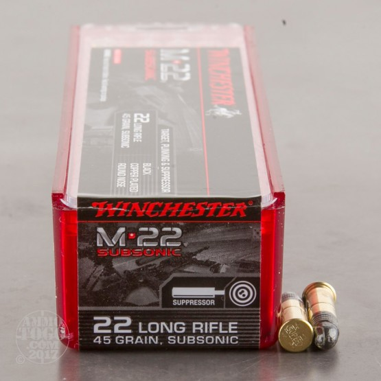 100rds - 22 LR Winchester 45gr. CPRN Ammo