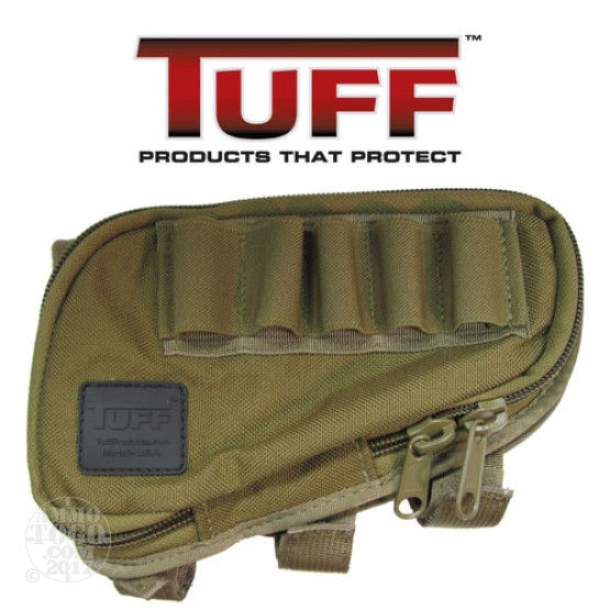 1 - Tuff Products Butt Stock Saddle 12 Gauge Coyote Brown