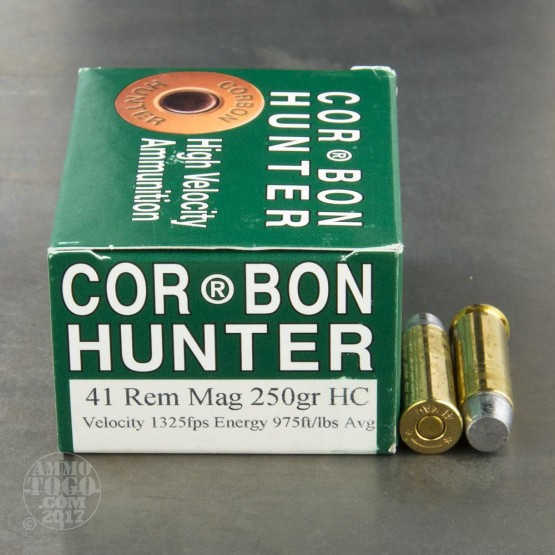 20rds - 41 Mag Corbon Hunter 250gr. Hard Cast Ammo