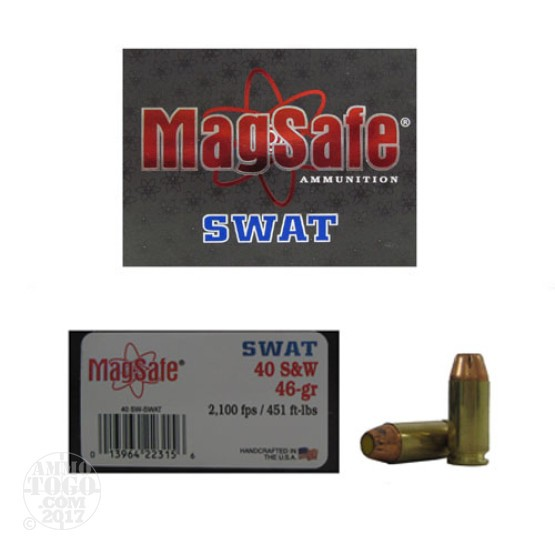 10rds - 40 S&W Magsafe 46gr. SWAT Ammo