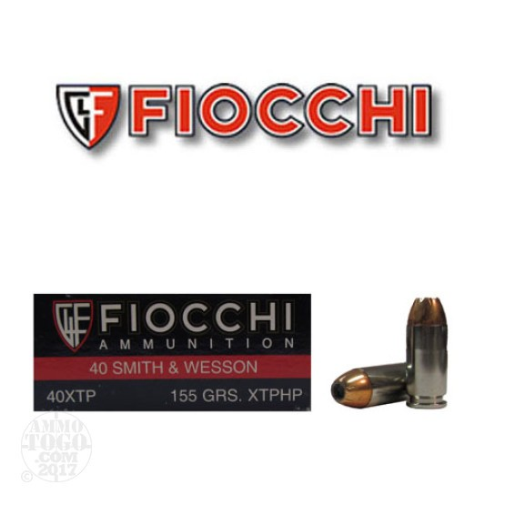 50rds - 40 S&W Fiocchi 155gr. XTP Hollow Point Ammo