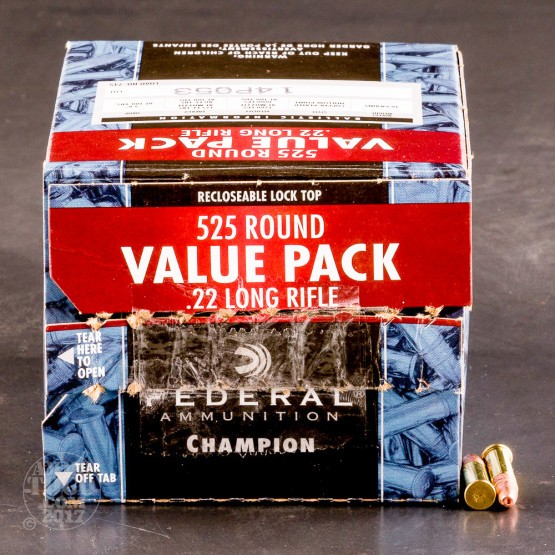 5250rds - 22LR Federal Champion 36gr Copper Plated Hollow Point Ammo