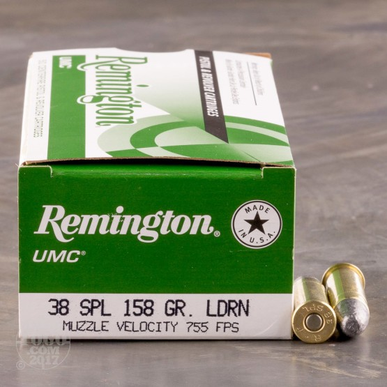 50rds - 38 Spec Remington UMC 158gr. Lead Round Nose Ammo