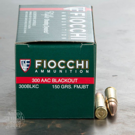 500rds - 300 AAC BLACKOUT Fiocchi 150gr. FMJBT Ammo