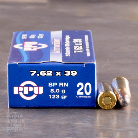 1000rds - 7.62x39 Prvi Partizan 123gr. Soft Point Round Nose Ammo