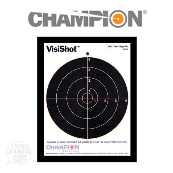 1 - Champion VisiShot 100yd. Sight-in Target 10 Pack