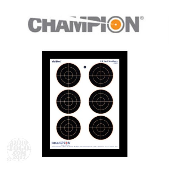 1 - Champion VisiShot 25yd. Smallbore Target 10 Pack