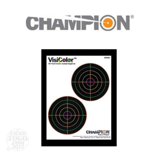 1 - Champion Visishot 50yd. Sight-In Target 10 Pack