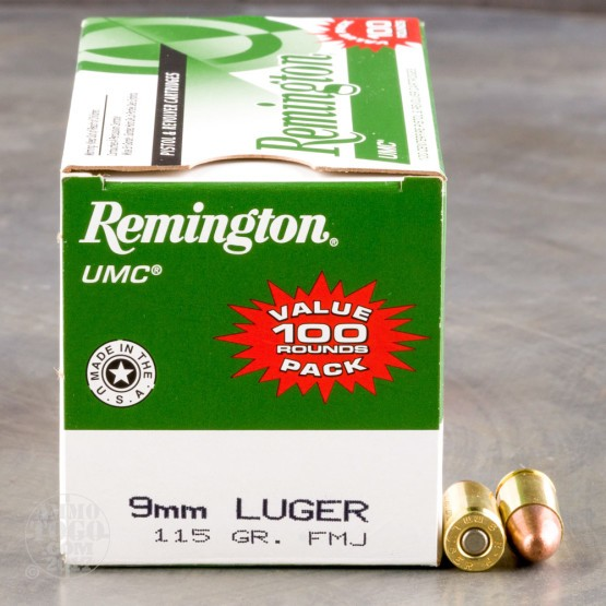 600rds - 9mm Remington UMC Value Pack 115gr. FMJ Ammo
