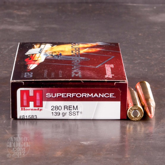 20rds - 280 Rem. Hornady Superformance 139gr. SST Ammo