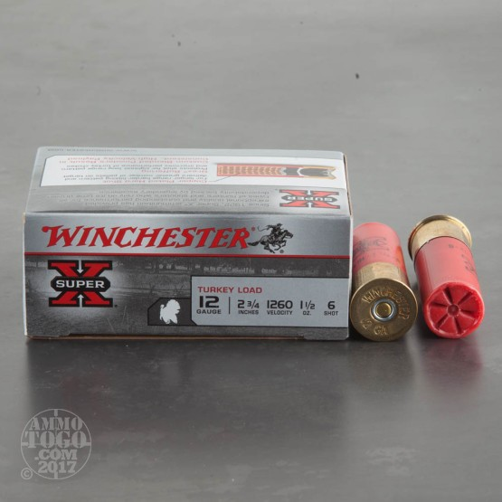 "10rds - 12 Gauge Winchester Super-X 2 3/4""  1 1/2oz.  #6 Turkey Load"