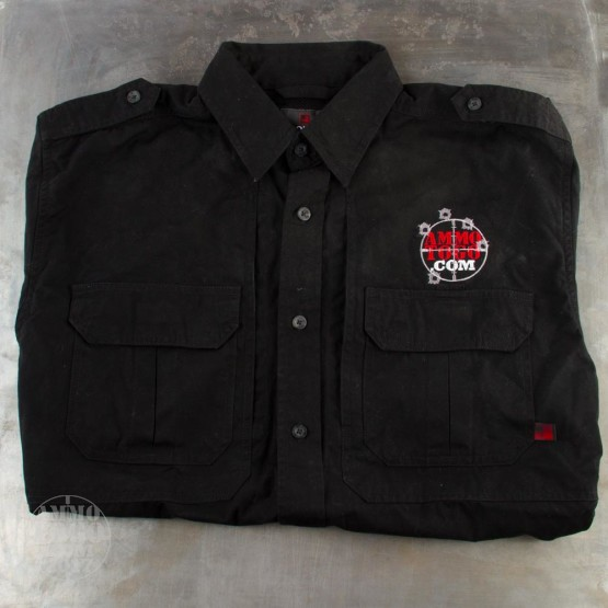 1 - Woolrich Black Short Sleeve Shirt (Large) With Ammo To Go Logo