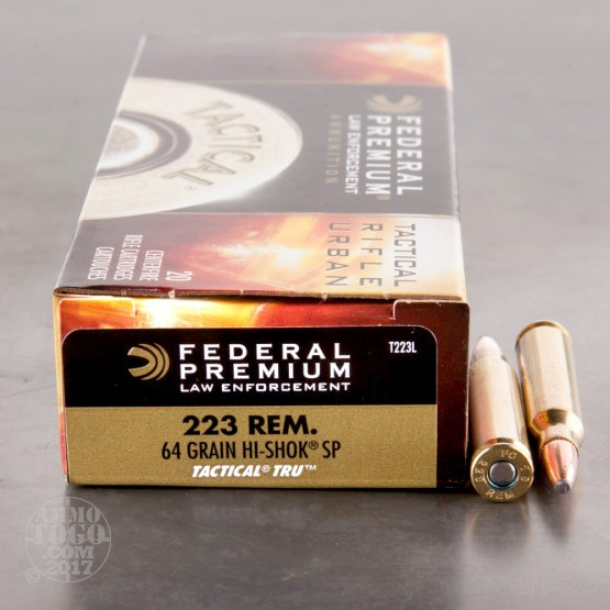 200rds - .223 Federal LE Tactical TRU 64gr. SP Ammo
