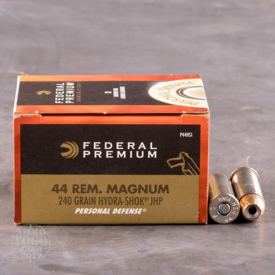 20rds - 44 Mag Federal Personal Defense Hydra-Shok 240gr. JHP Ammo