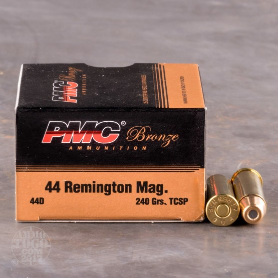 25rds – 44 Mag PMC Bronze 240gr. Truncated Cone SP Ammo
