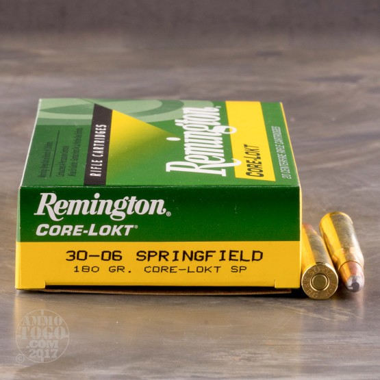 20rds - 30-06 Remington 180gr. Core-Lokt Soft Point Ammo