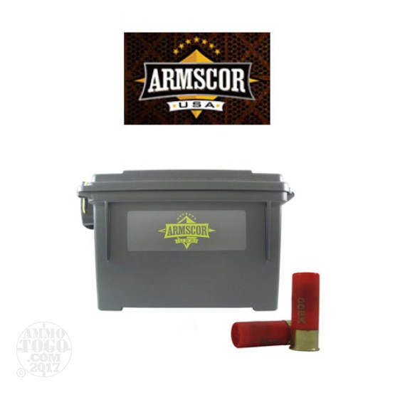 "80rds - 12 Gauge Armscor Precision 2 3/4"" 1 1/8oz. 9 Pellet 00 Buckshot in a Polymer Ammo Can"