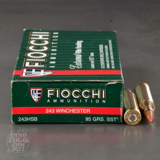 20rds - 243 Win. Fiocchi 95gr. SST Polymer Tip Ammo