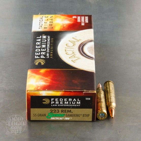 200rds - .223 Federal LE Tactical TRU 55gr. HP Ammo