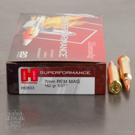 20rds - 7mm Rem Mag Hornady 162gr SST Superformance Ammo