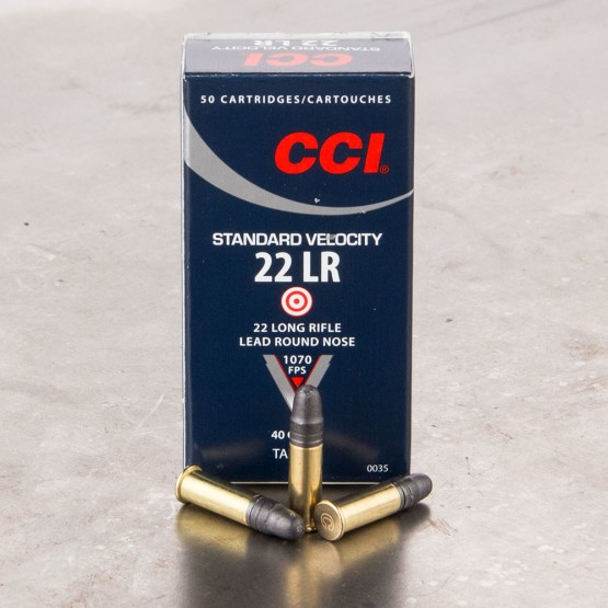 500rds - 22LR CCI Standard Velocity 40gr. Solid Point Ammo