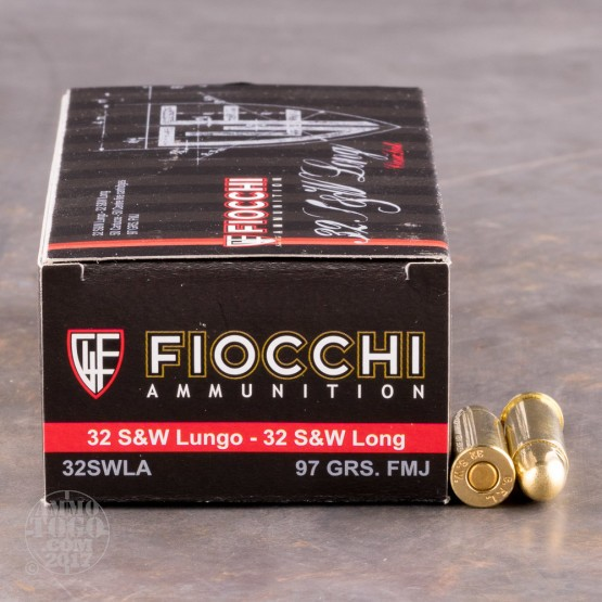 1000rds - 32 S&W Long Fiocchi 97gr Full Metal Jacket Ammo